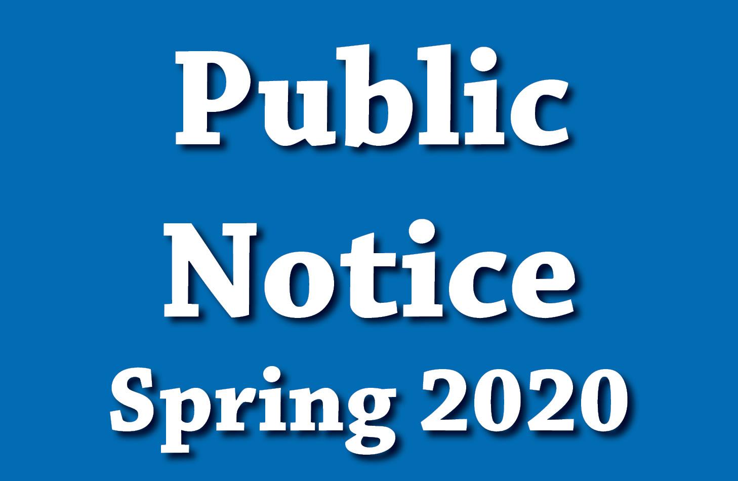 Pubic Notice - COVID-19
