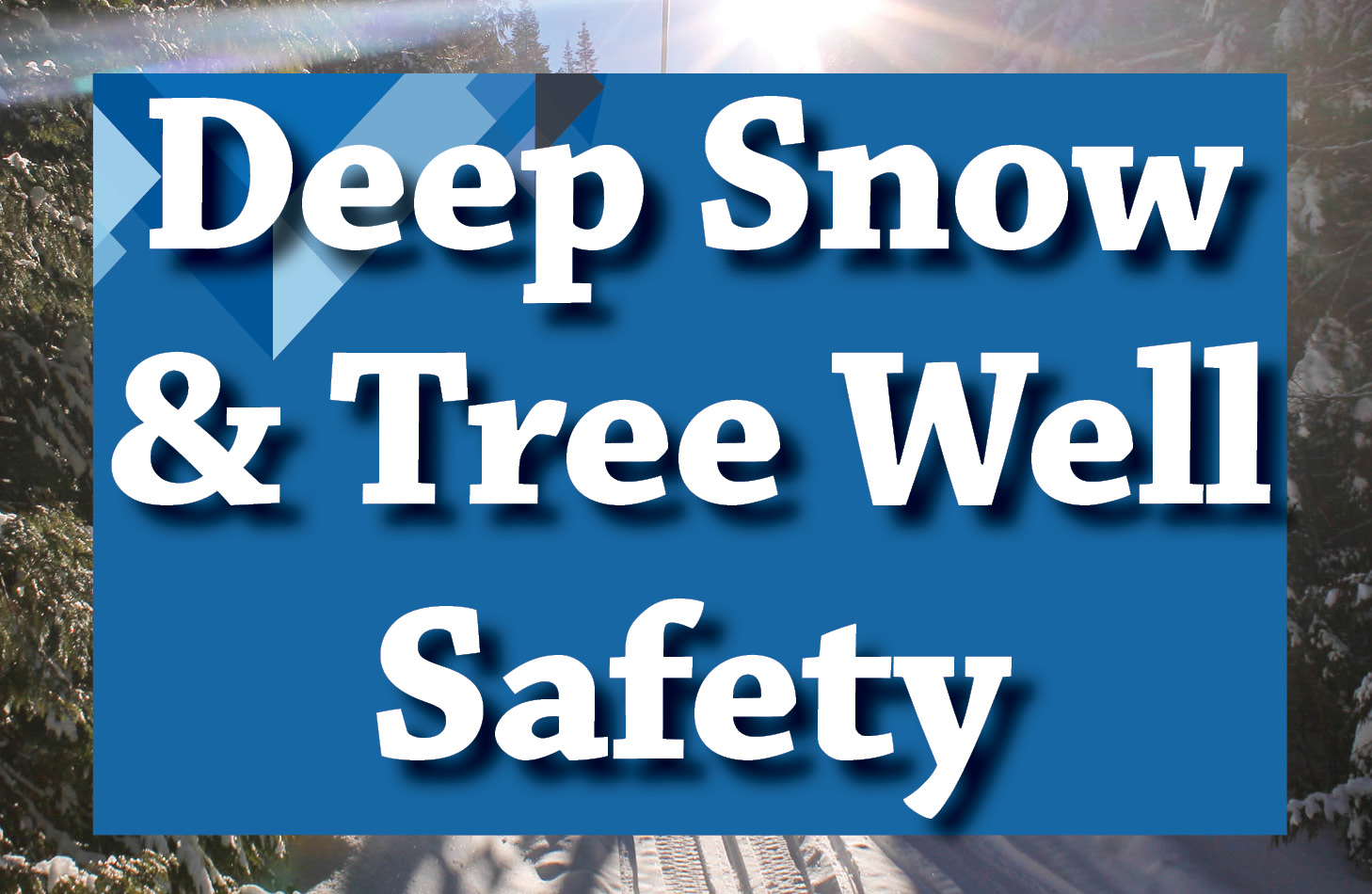 Deep snow and tree well safety information